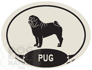 Pug Euro Decal At Dog Like Nature
